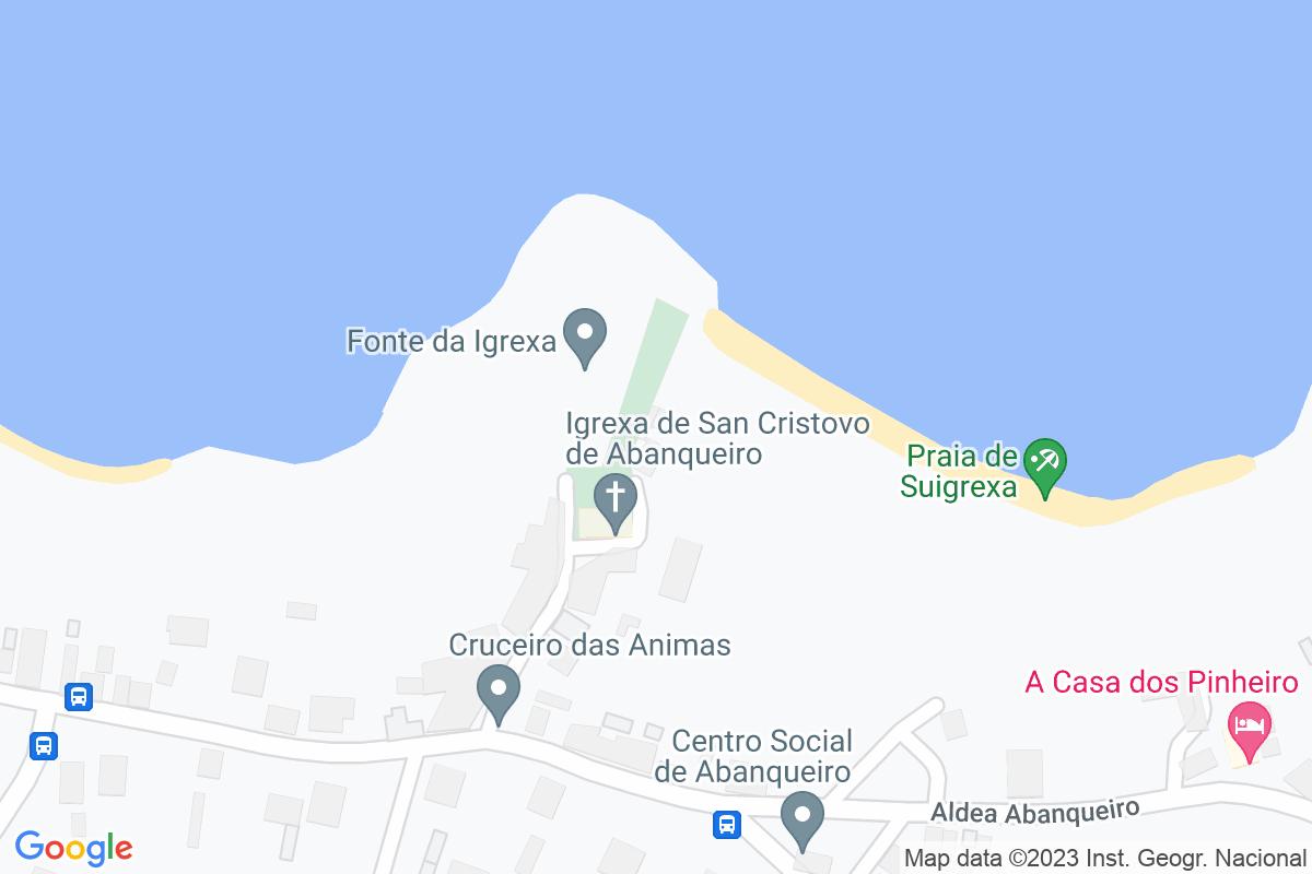 Mapa A-coruna ABANQUEIRO