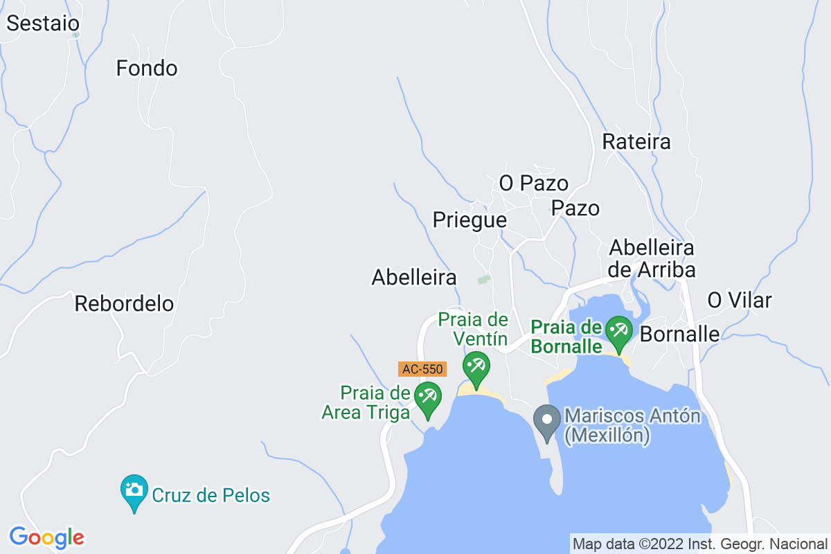 Mapa A-coruna ABELLEIRO