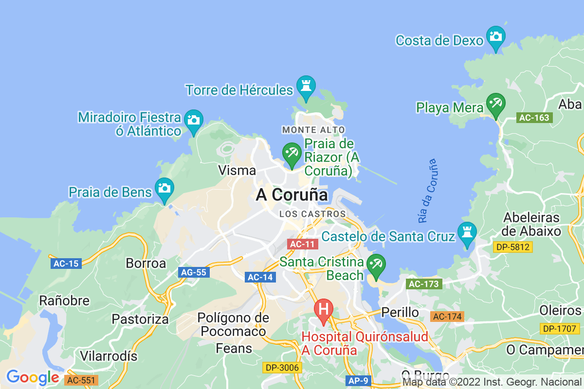 Mapa A-coruna ALDARETA