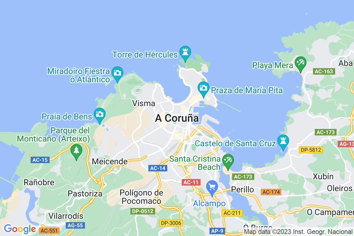 Mapa A-coruna ALIMPADOIROS