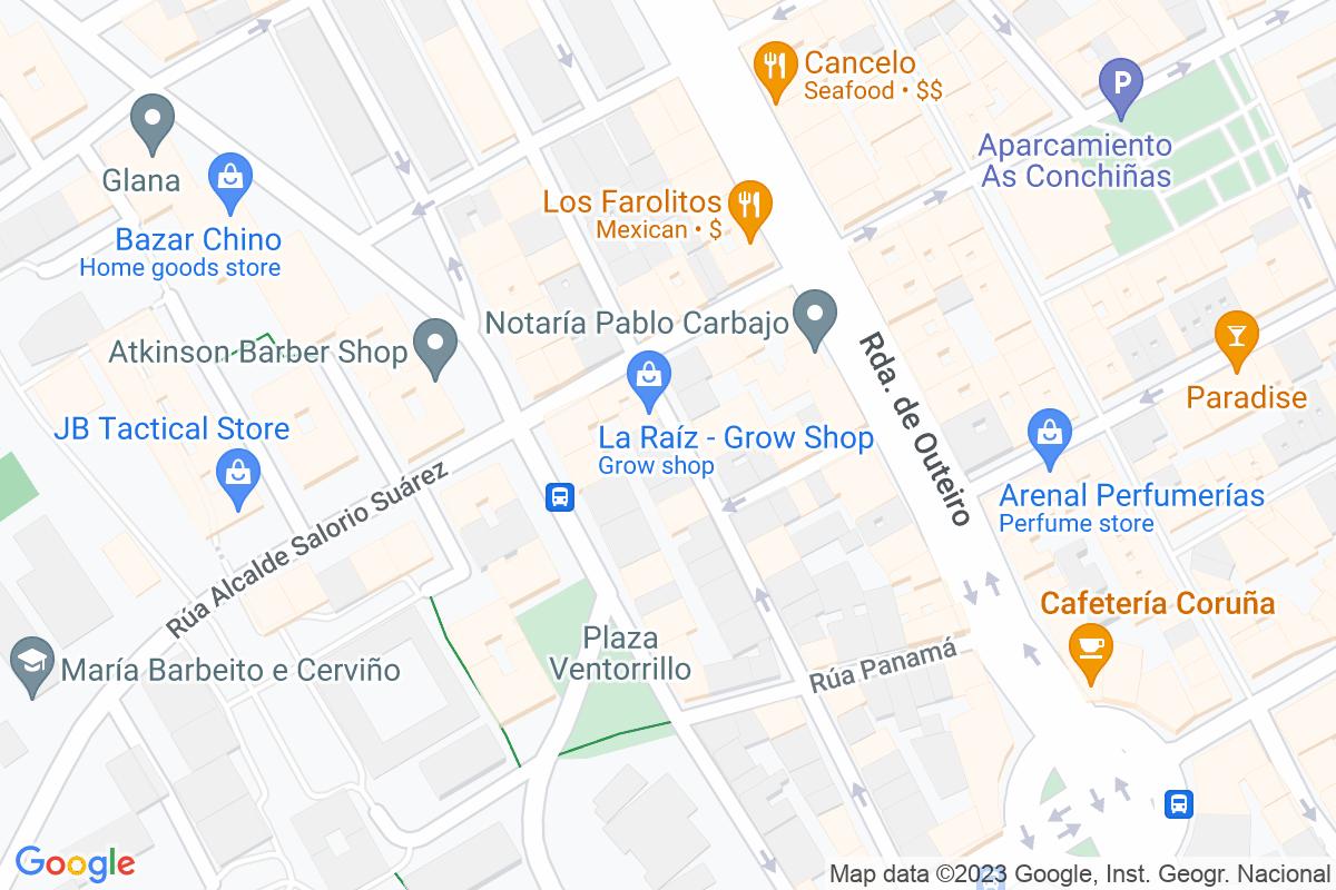 Mapa A-coruna ALLEGUE