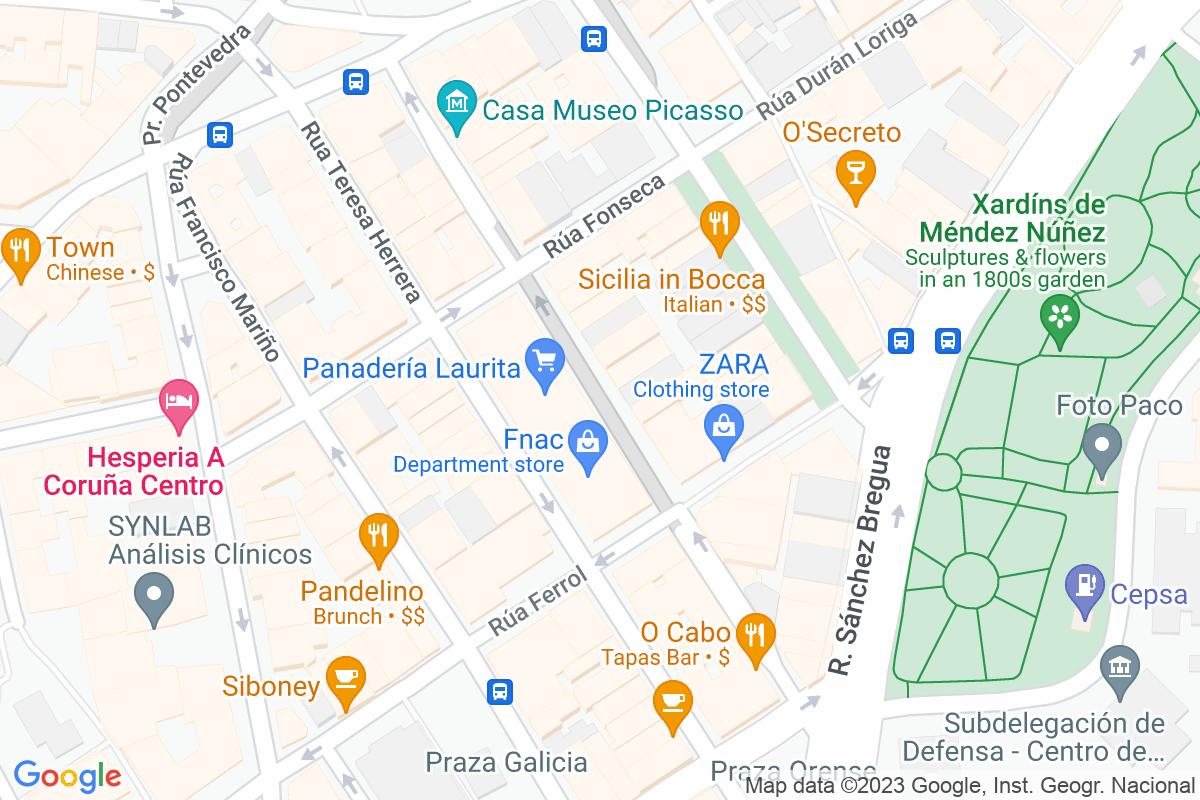 Mapa A-coruna AMEIXEIRAS