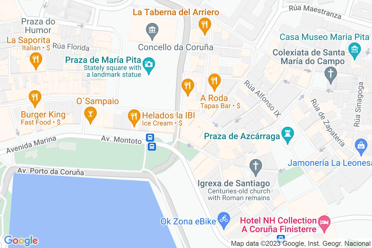 Mapa A-coruna AMOREIRA