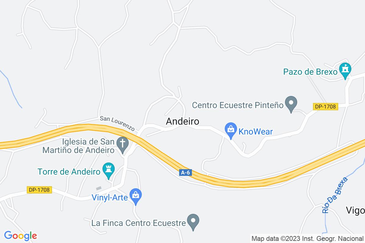 Mapa A-coruna ANDEIRO
