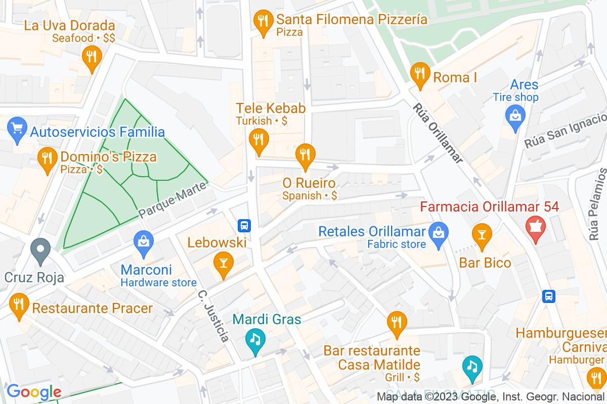 Mapa A-coruna ANTELO