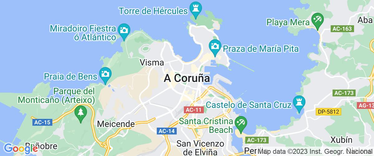 Mapa A-coruna