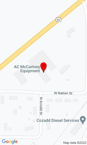 Google Map of A.C. McCartney Equipment, Inc. 606 North Sparta, Wataga, IL, 61488