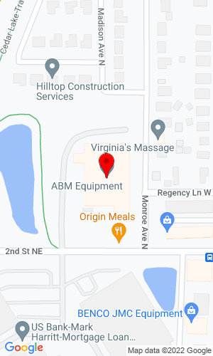 Google Map of ABM Equipment & Supply, Inc. 333 2nd St. NE, Hopkins, MN, 55343