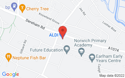 Map of ALDI Larkman Lane