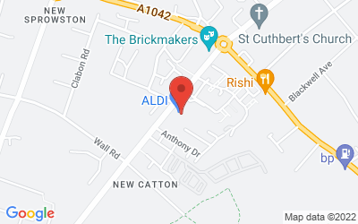Map of ALDI Sprowston Road