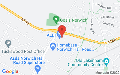 Map of ALDI  Hall Road