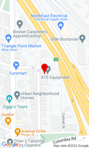 Google Map of ATS Equipment, Inc. 33 Locust Street , Boston, MA, 2125