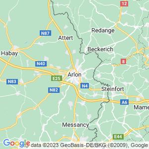 Werkgebied van onze bestrijder in Aarlen