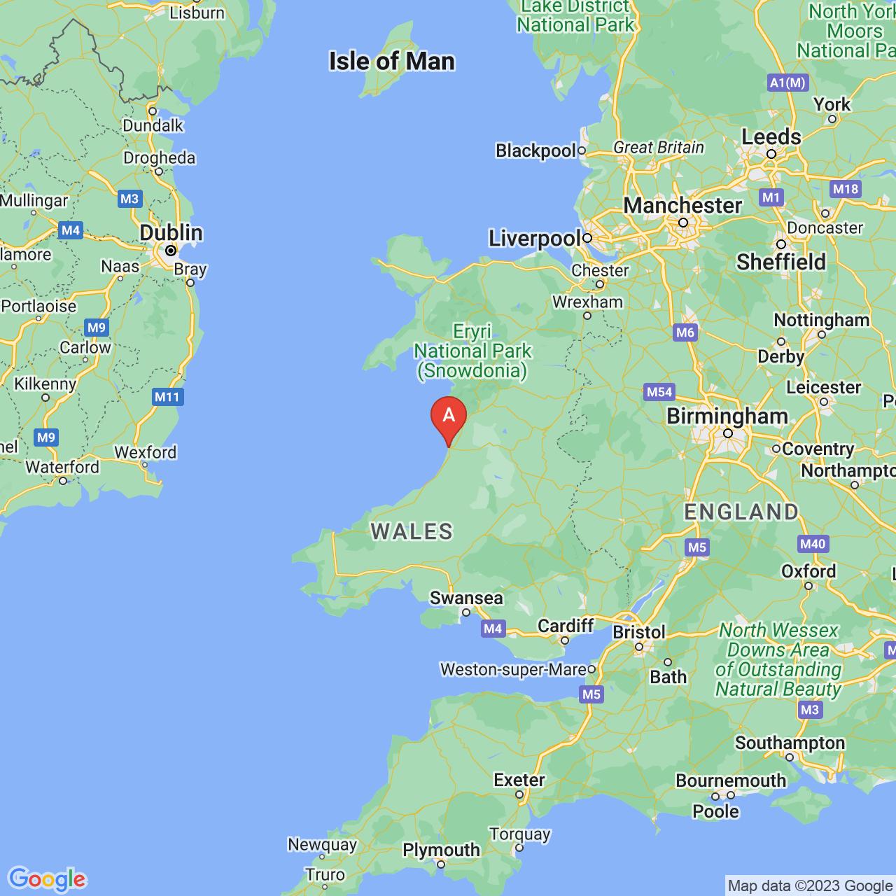 Aberystwyth, Wales Map