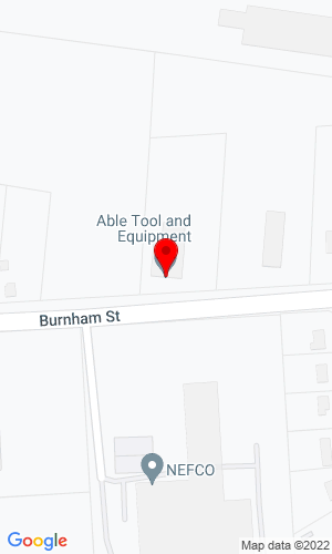 Google Map of Able Tool & Equipment 410 Burnham Street, South Windsor, CT, 06074