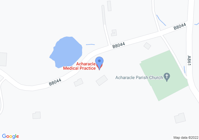 Picture of Acharacle Medical Practice on Google maps.