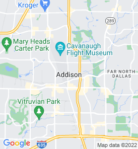 Addison TX Map