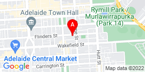 Google Map of Adelaide Community Correctional Centre 181 Flinders St, Adelaide SA 5000