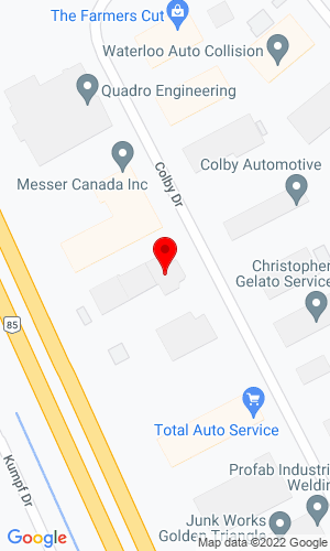Google Map of Advance Construction Equipment 607 Colby Drive , Waterloo, ON, N2V 1A1,