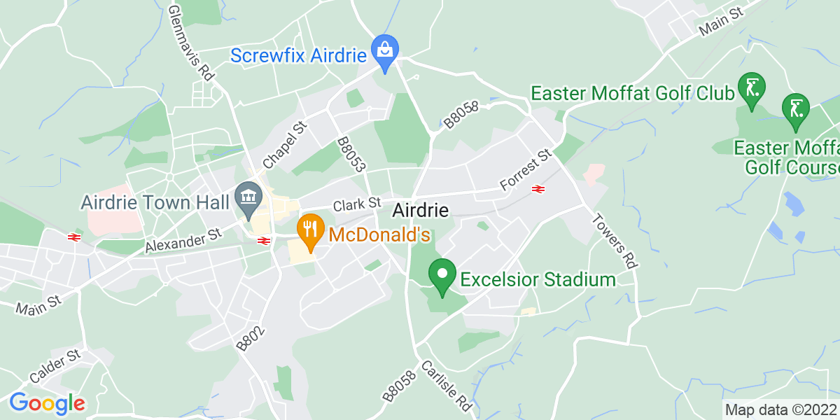 Map: Care Assistant job role in Airdrie