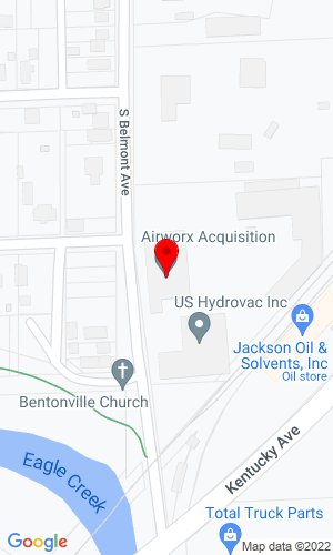 Google Map of Airworx Acquisition, LLC 501 West Raymond Street, Indianapolis, IN, 46268