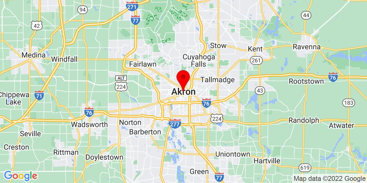 Google Map of Akron, OH