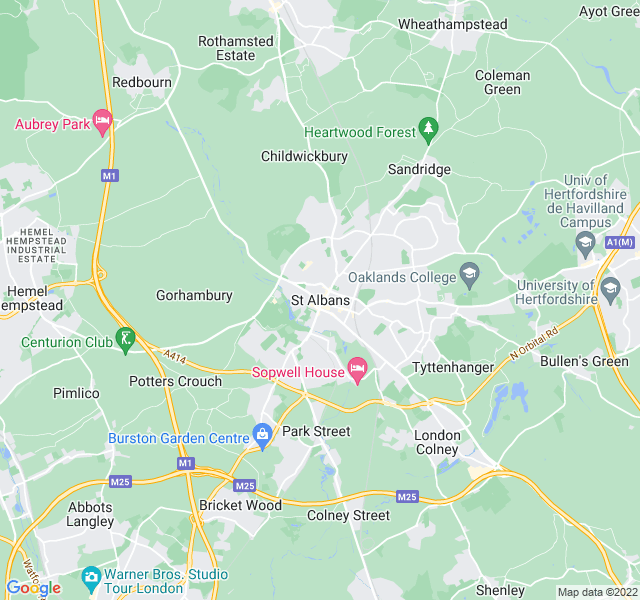 Website Designer Albans Google map of location