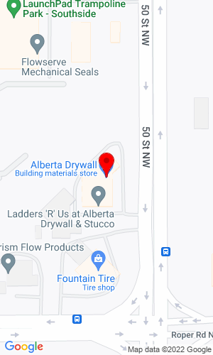 Google Map of Alberta Drywall/Stucco Supply 6030-50th Street , Edmonton, AB, T6B 3C4