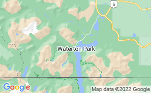 Map of Waterton Lakes/Crandell Mountain Campground