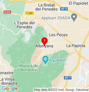Google Map of Albinyana, Tarragona, Spain