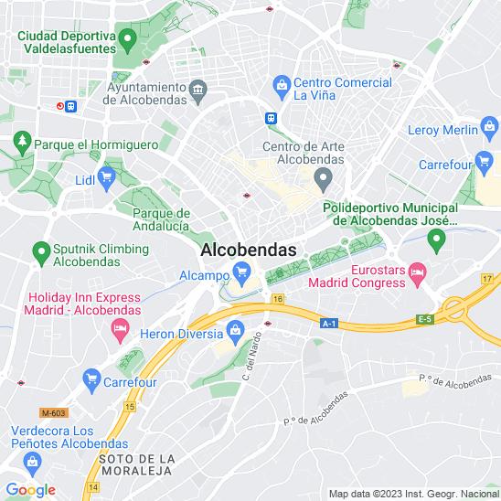 Mapa redondo Alcobendas