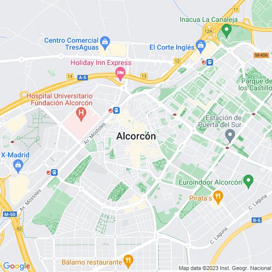 Mapa redondo Alcorcón