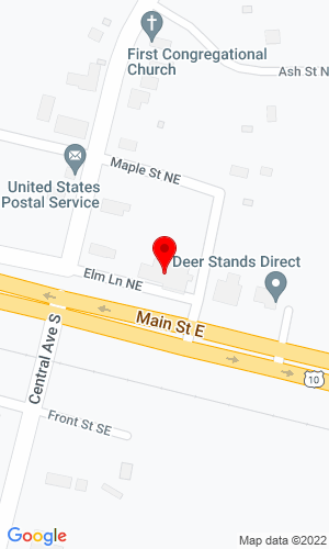 Google Map of Aldrich Repair 194 Elm Lane NE, Aldrich, MN, 56434