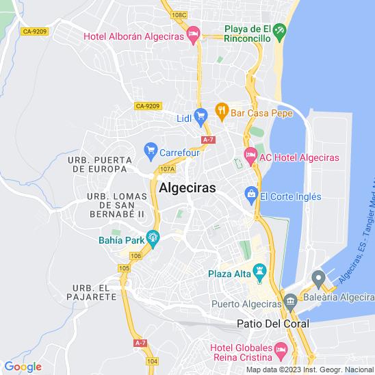 Mapa redondo Algeciras