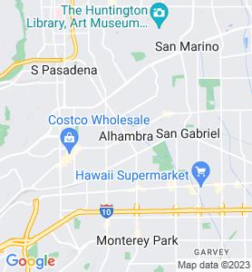 Alhambra CA Map