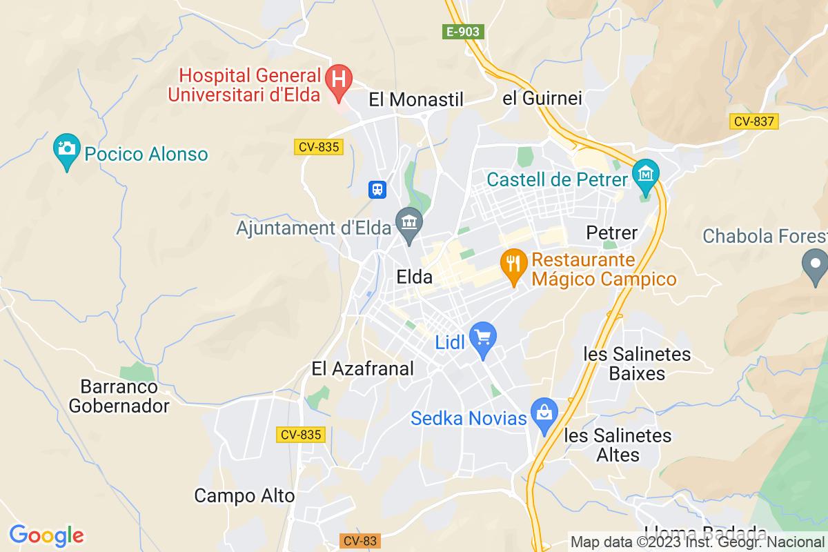 Mapa Alicante ELDA