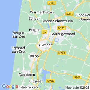 Werkgebied van onze bestrijder in Alkmaar