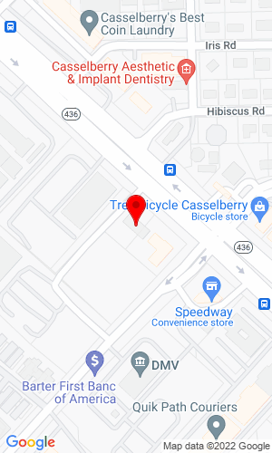 Google Map of All Star Equipment of Orlando 575 Semoran Blvd, Cassellberry, FL, 32707