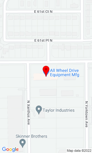 Google Map of All Wheel Drive Equipment Mfg. Inc. 2022 E 61st Street N, Tulsa, OK, 74130
