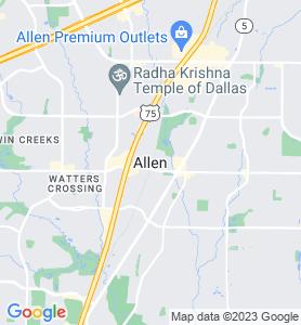 Allen TX Map