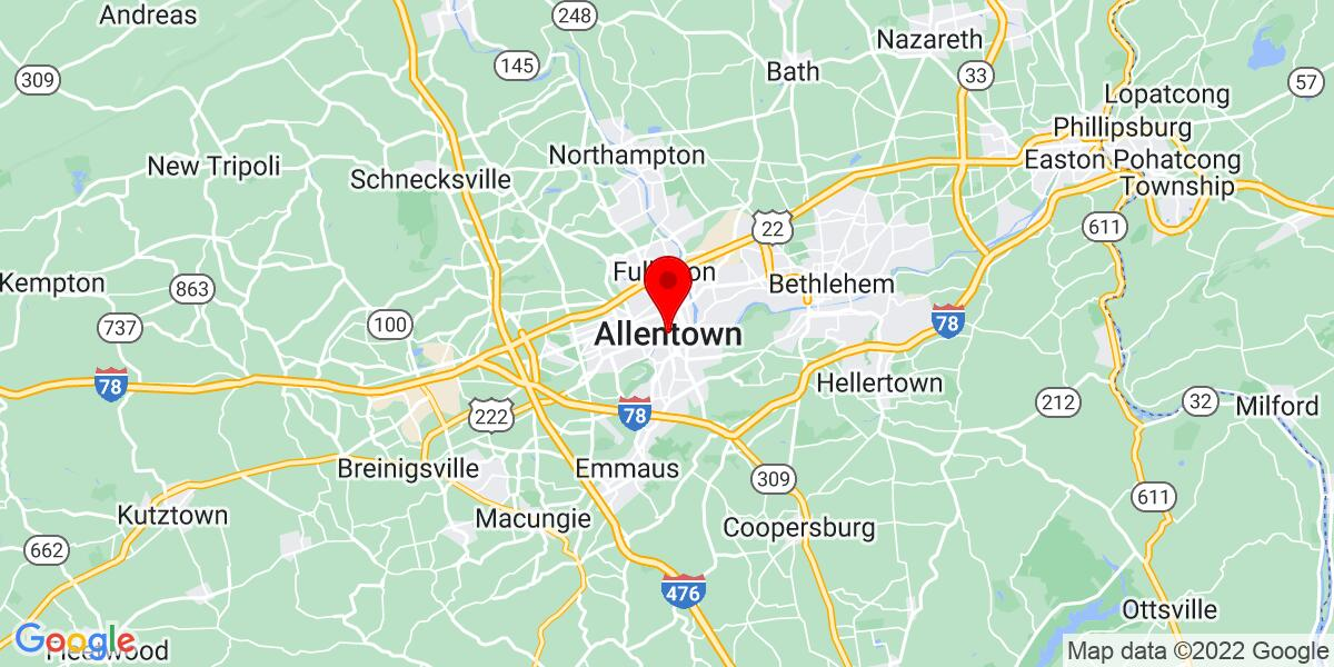 Google Map of Allentown, PA