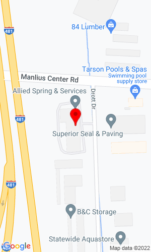 Google Map of Allied Spring & Service Inc. 6800 Manlius Center Road, East Syracuse, NY, 13057,