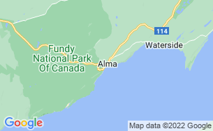 Map of Fundy/Pointe Wolfe Campground