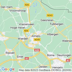 Werkgebied van onze bestrijder in Almelo