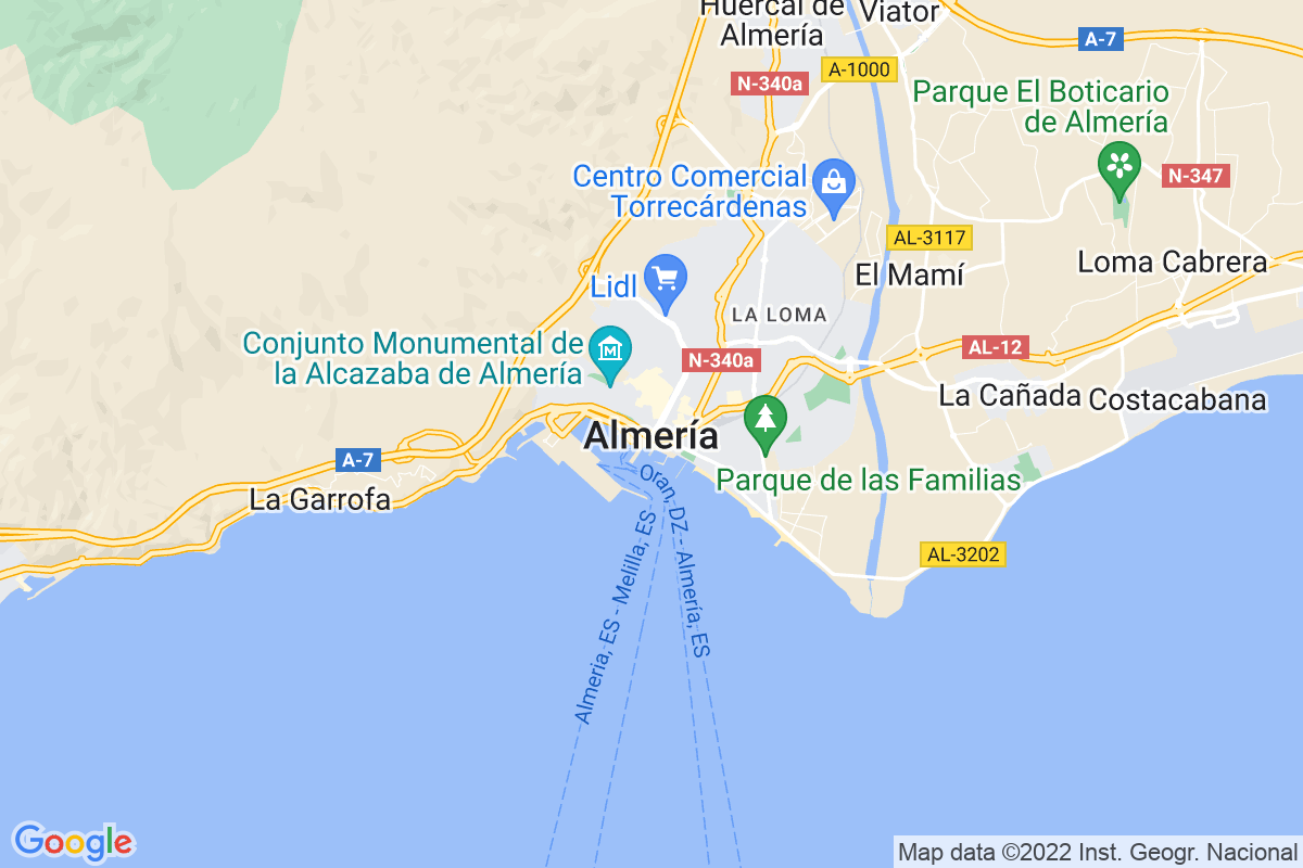 Mapa Almeria ALMERÍA