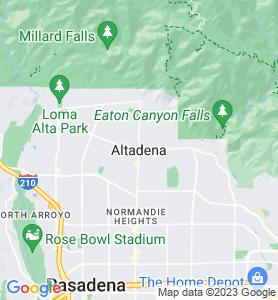 Altadena CA Map