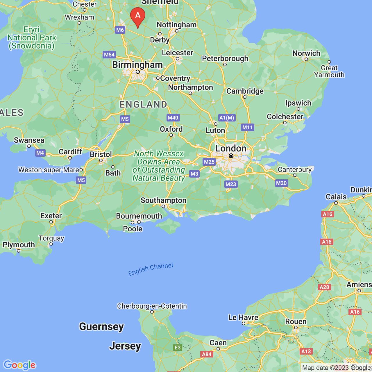 Alton, England Map