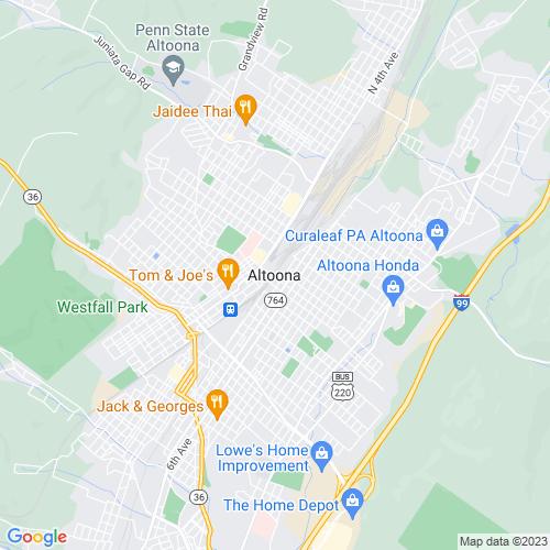 Map of Altoona, PA