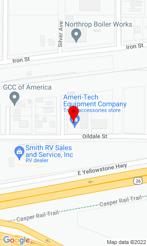 Google Map of Ameri-Tech Equipment Company 970 Oildale Street, Evansville, WY, 82636