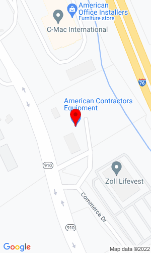 Google Map of American Contractors Equipment Company 806 Route 910, Cheswick, PA, 15024
